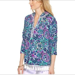 Lilly Pulitzer Harmon Hoodie Pullover Top XXS
